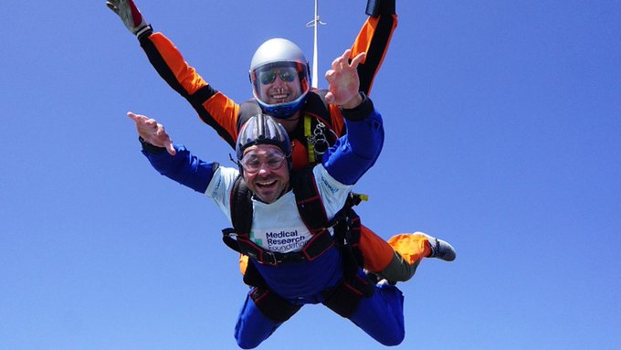 Cohort 1 students skydive to raise funds for the Foundation